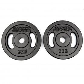 Plaques de poids 31mm, noires, en fonte