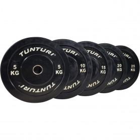 Tunturi Bumper Plates gummiert 51mm schwarz
