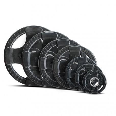 Body Solid Hantelscheiben 51mm 4D, gummiert, schwarz (ORTK)