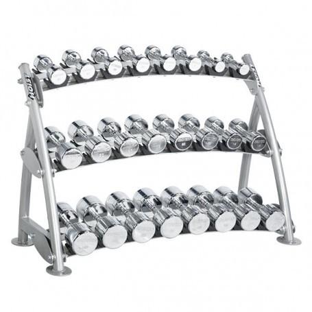 Hoist Fitness Beauty Bell Rack für 12 Paar Chromhanteln (CF-3462