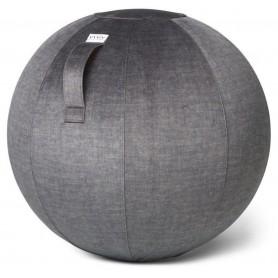 VLUV - VARM Samt-Sitzball, Anthrazit, 60-65cm